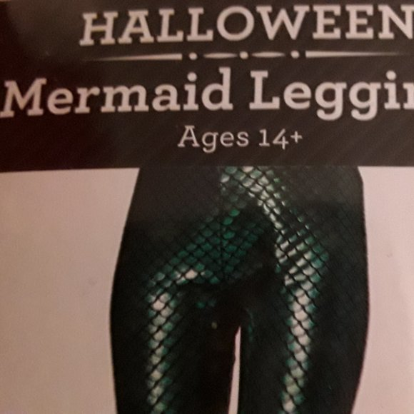Mermaid Gloves & Mermaid Leggings Costume NWT